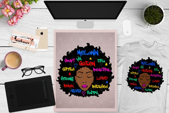 Afro Woman, Afro Words, Afro Face, Afro Graffiti SVG File