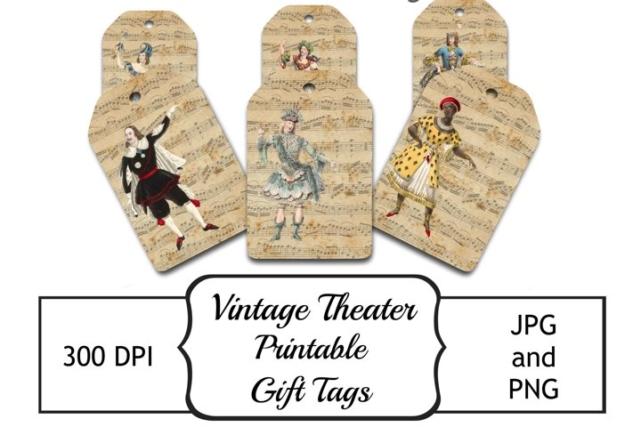 Vintage Theater Tags - Printable Gift Tags