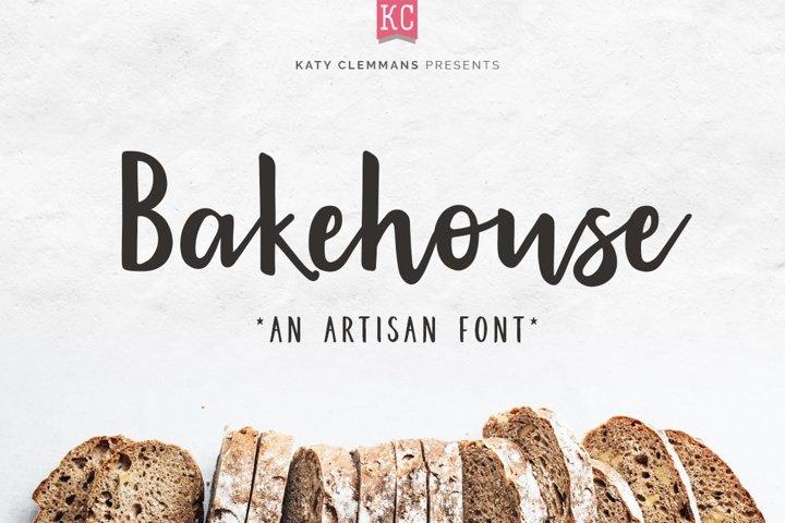 Bakehouse script font