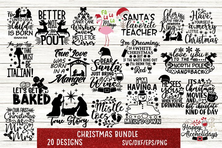 Christmas Bundle Svg, Merry Christmas Bundle Svg.
