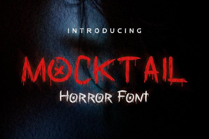 Mocktail - Horror Font