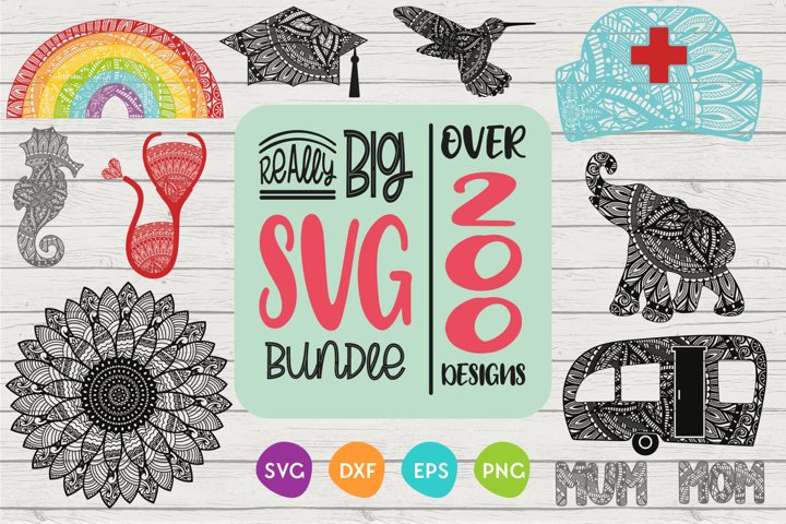 Huge SVG Bundle | 200 plus designs | 97 per cent off!