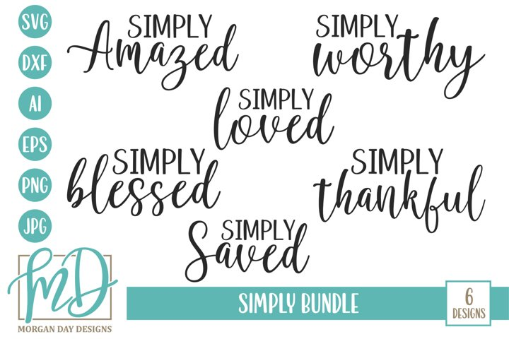 Christian - Inspirational - Simply Bundle SVG