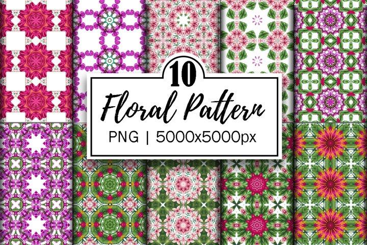 Floral Mandala Patterns | digital papers | floral background