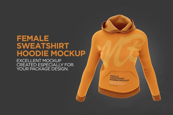 Female Sweatshirt Hoodie Mockup