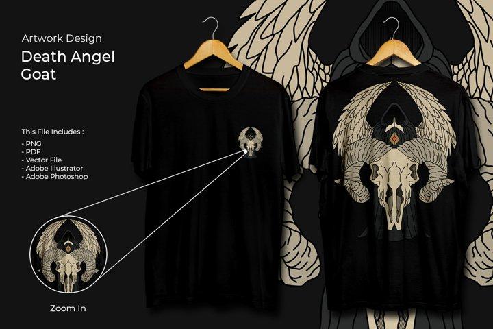 T-Shirt Design Artwork - Death Angel Goat