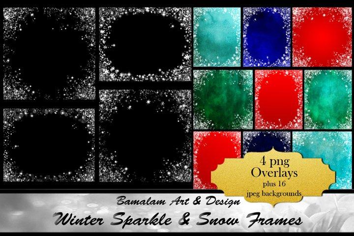 Sparkle & Snowflake Frame Overlays