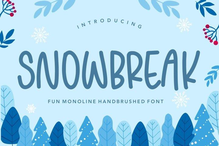 SNOWBREAK Fun Monoline Handbrushed Font