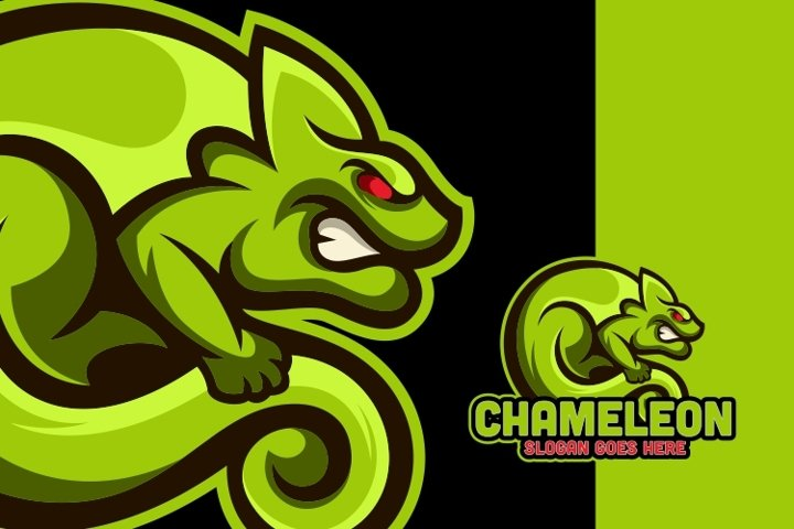 Awesome Chameleon Logo Template
