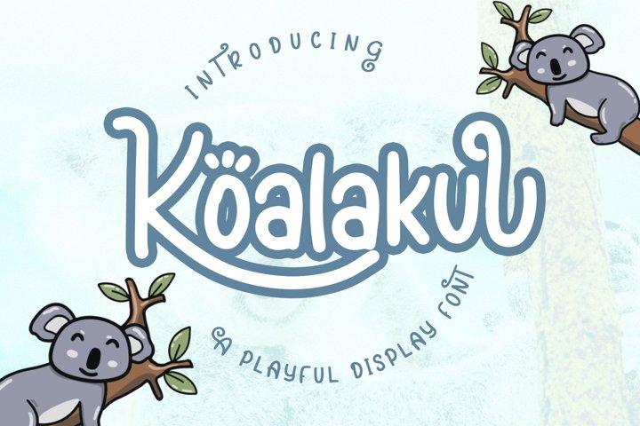 Koalakuu Playful Font