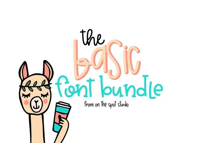 The Basic Font Bundle