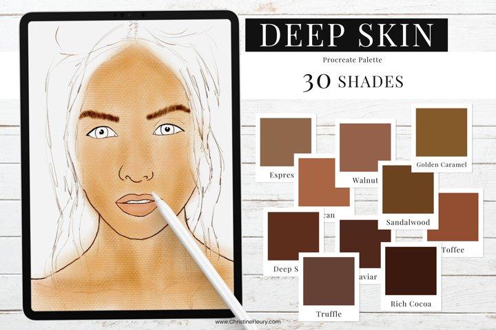 Procreate Color Palette - Deep Skin Tones