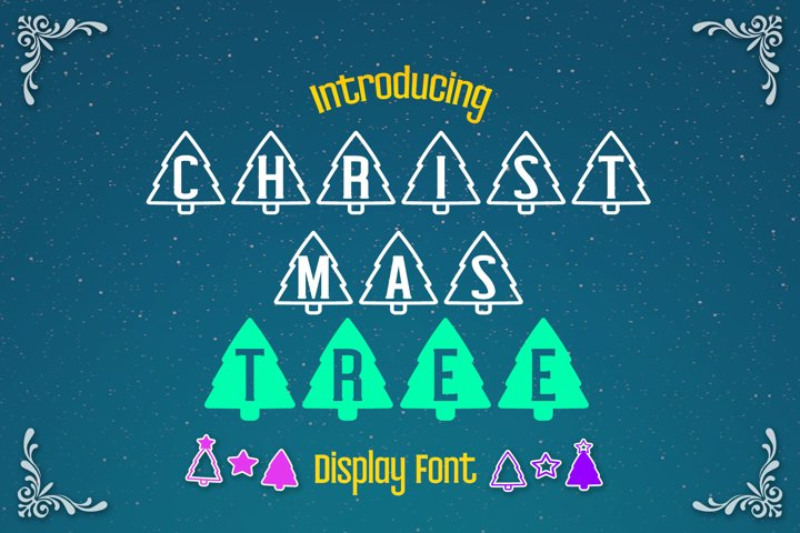 Christmas Tree Display font