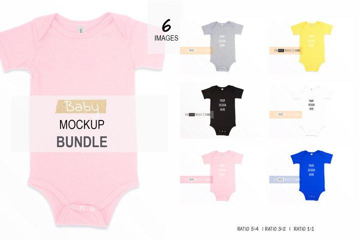 Baby Bodysuit Mockup Bundle | Bella Canvas 100B Bundle