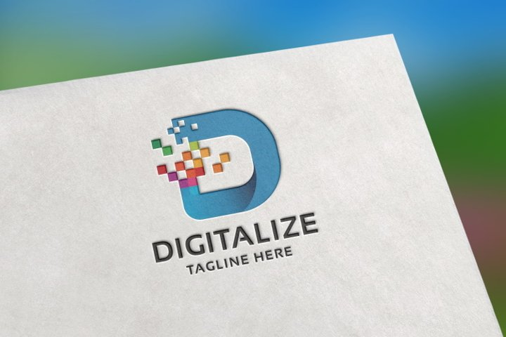 Digital D Letter Logo