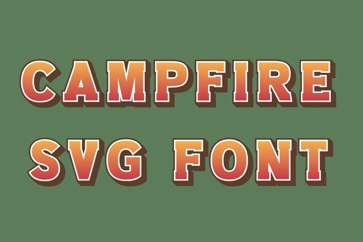 Campfire SVG Camp Font