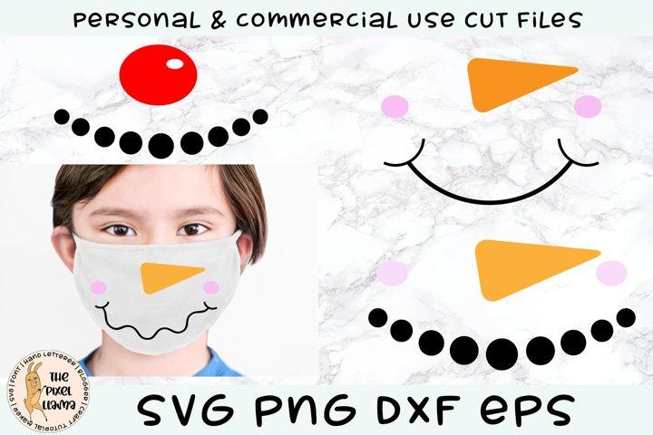 Snowman Face Mask Designs SVG