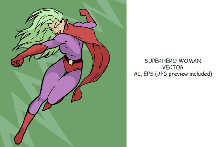 Superhero woman vector