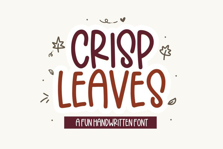 Crisp Leaves - A Quirky Font with Fall Doodles!