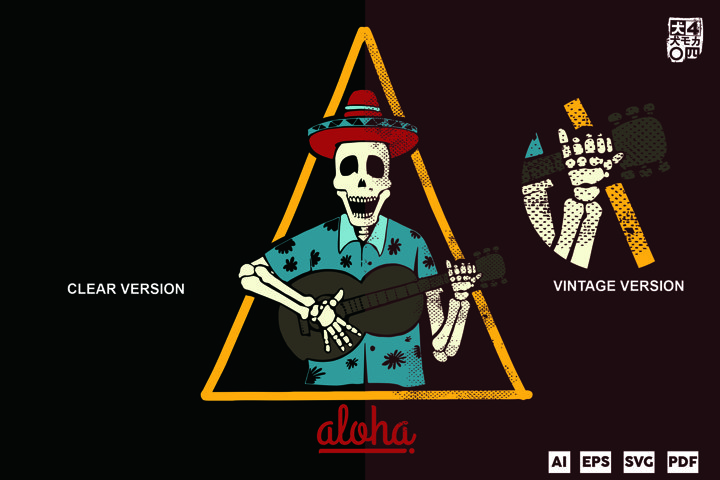 aloha skeleton party
