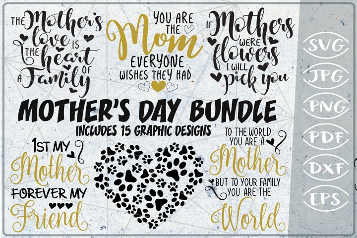 Mothers Day Bundle of 15 SVG Cutting Files
