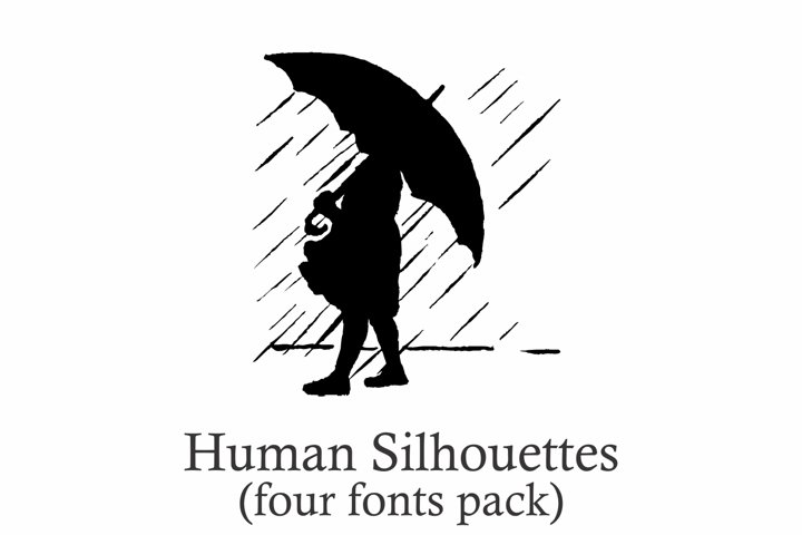 Human Silhouettes Pack - 4 Fonts