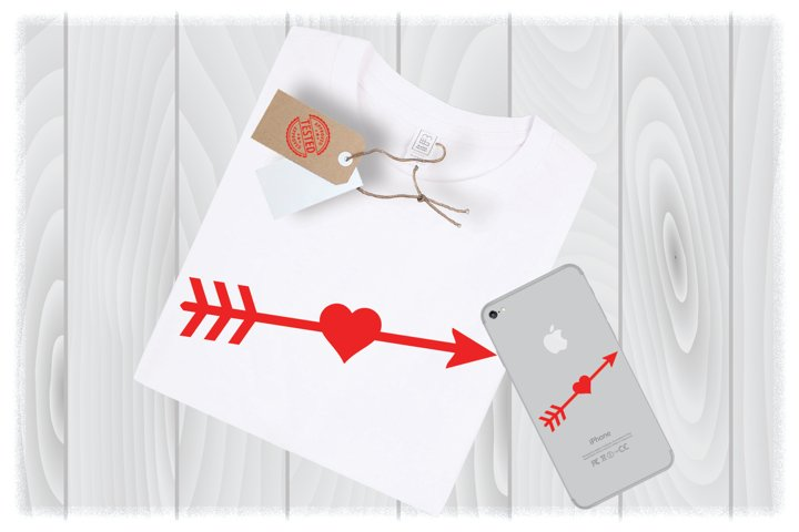 Arrow Heart SVG Files for Cricut Designs | Valentine SVG