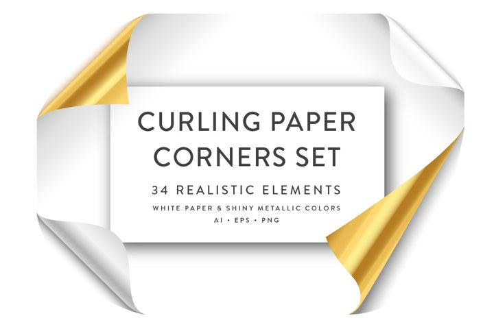 Curling Paper Corner Folds Set