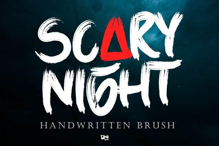Scary Night - Handwritten Brush