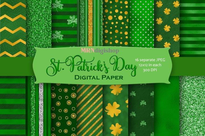 St. Patricks Day Digital Paper Pack