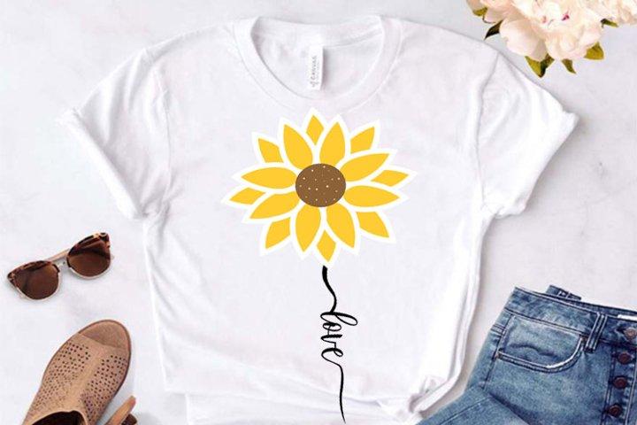 Sunflower SVG, Sunflower clipart, Sunflower cut file,