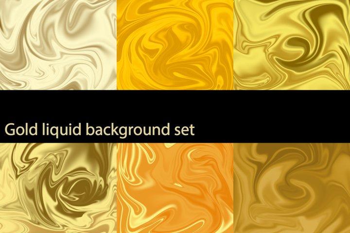 Gold liquid background set