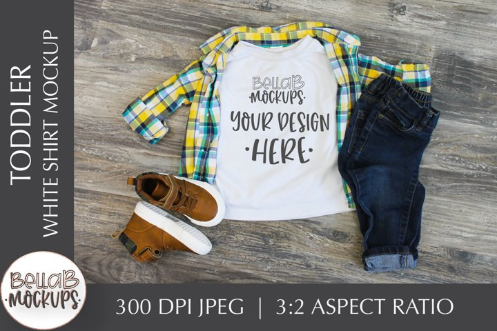 Toddler Shirt Mockup, Youth Boys White Shirt Mockup