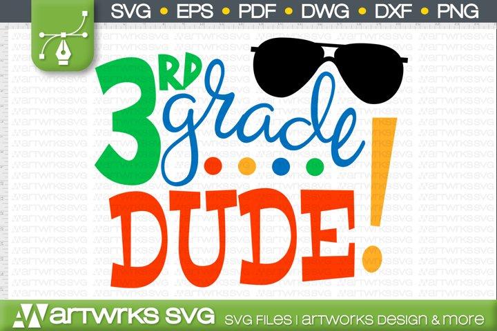 Back to school SVG files for Cricut   3rd grade dude