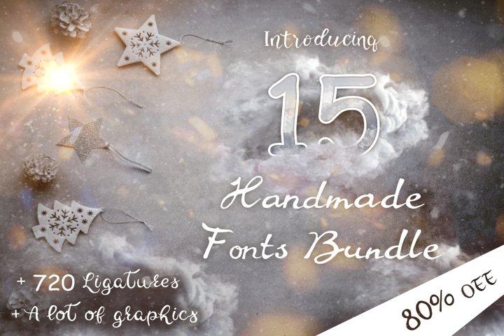 15 Creative Handmade Fonts Bundle