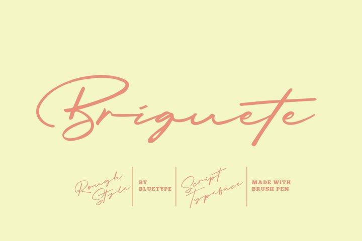 Briquete - Natural Brush Font example