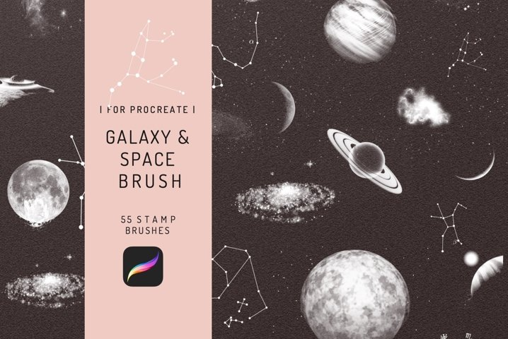 55 Procreate Galaxy Space Astronomy Stamp Brushes