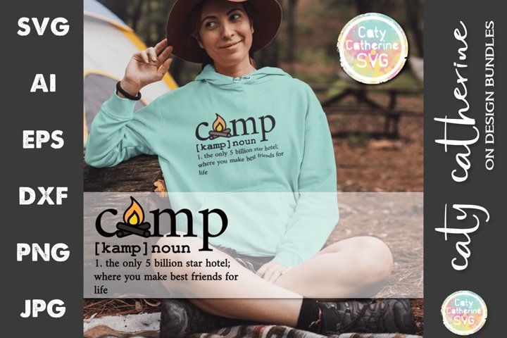 Camp Noun Dictionary Definition Camping SVG Cut File