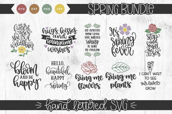 Spring Hand Lettered SVG Bundle