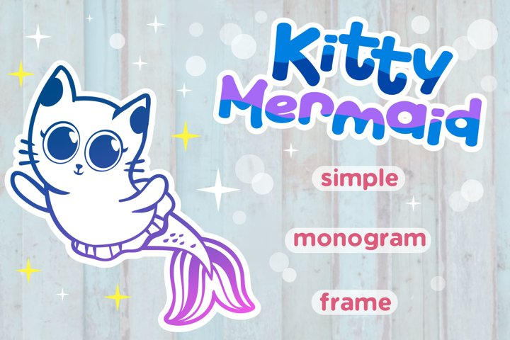 Kitty Mermaid SVG cut files