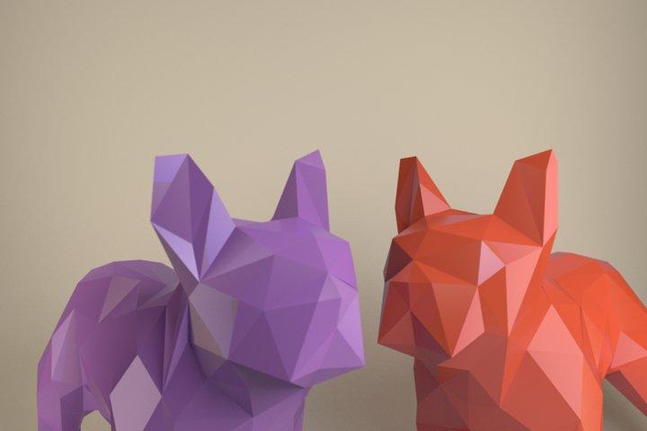 French Bulldog, Paper Dog, Papercraft Bulldog, Paper Animal