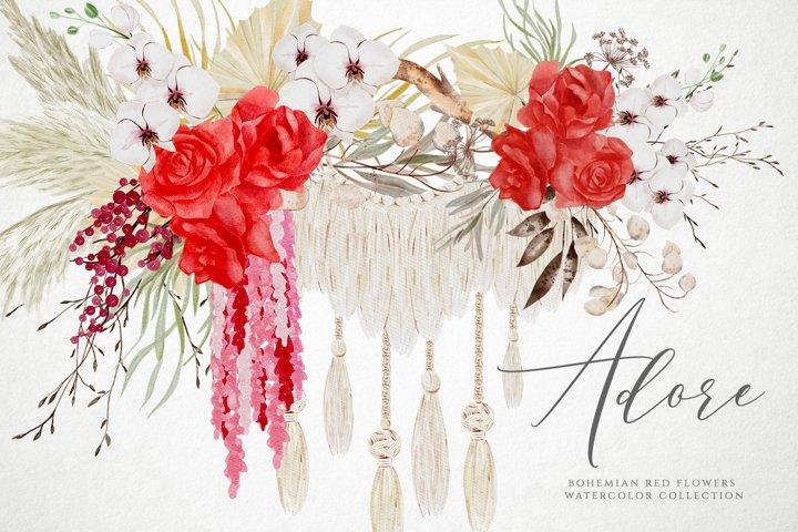 Rose Watercolor, Watercolor Floral Clipart