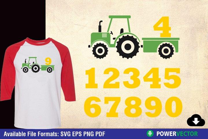 Tractor Birthday SVG Print / Cut files
