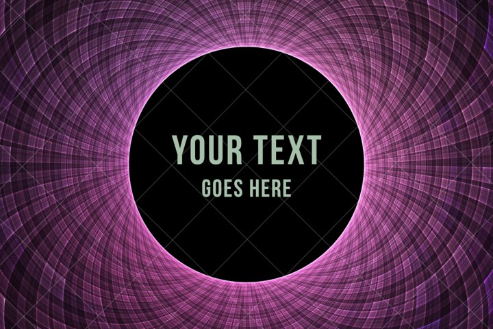 Abstract fractal background text placeholder