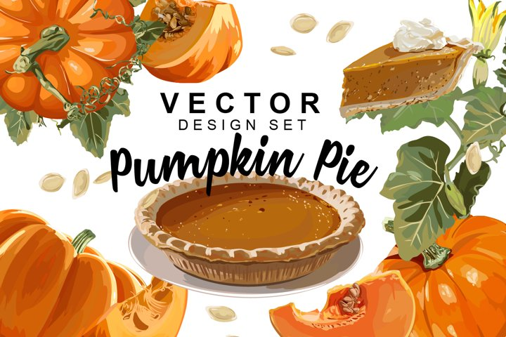 Pumpkin Pie Design Set
