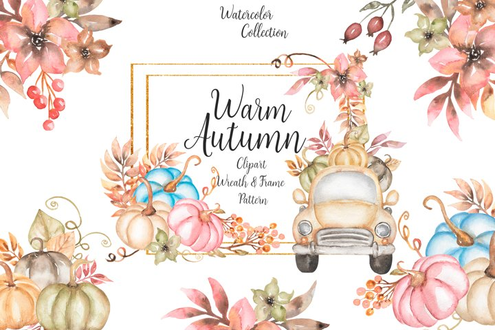 Watercolor Warm Autumn Collection