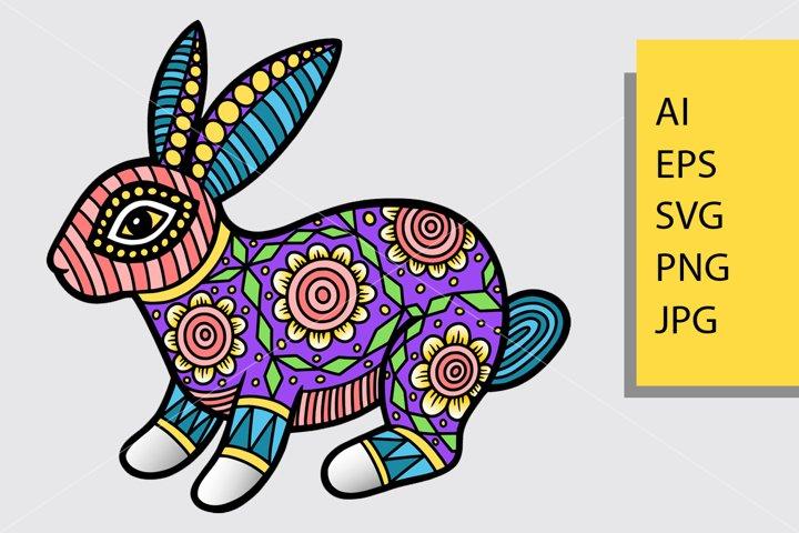 Rabbit pattern decoration