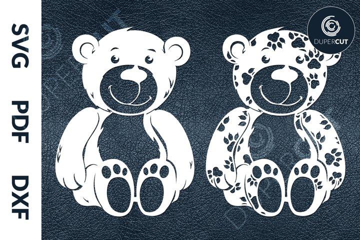 SVG / PDF / DXF Teddy Bears, Cutting Files