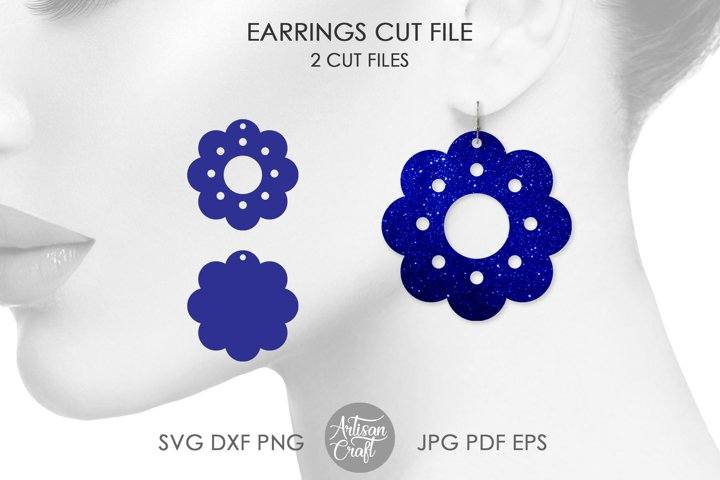 Flower earrings SVG