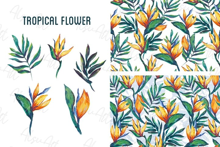 Seamless pattern Tropical Flower